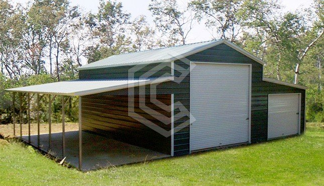 42x31x12 Vertical Roof Custom Metal Barn