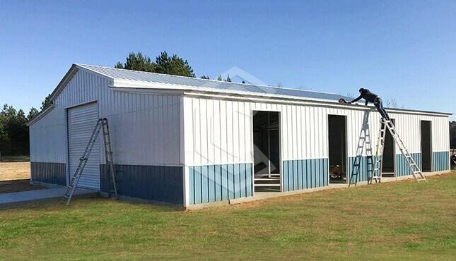 42x55x12 Vertical Roof Metal Farm Barn