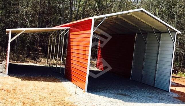 44x40x12 Raised Center Aisle Steel Barn