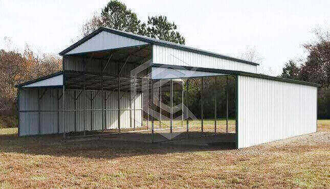 44x40x14 Standard Raised Center Aisle Barn