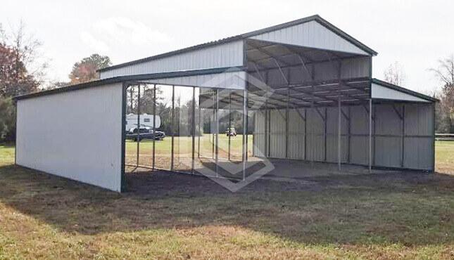 44x40x14 Standard Raised Center Aisle Barn