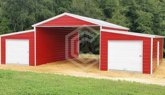 48x36x12 Vertical Roof Raised Center Aisle Barn