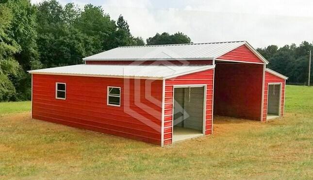 48x36x12 Vertical Roof Raised Center Aisle Barn