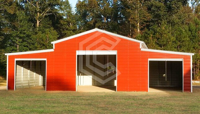 48x40x12 Vertical Roof Metal Barn