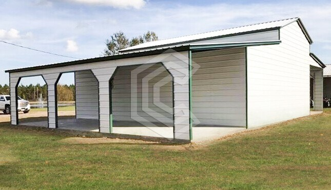 54x30x14 Raised Center Aisle Metal Barn
