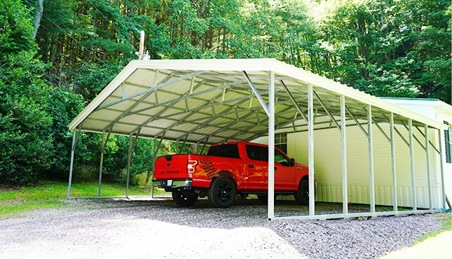 30 x 26 Vertical Roof Carport