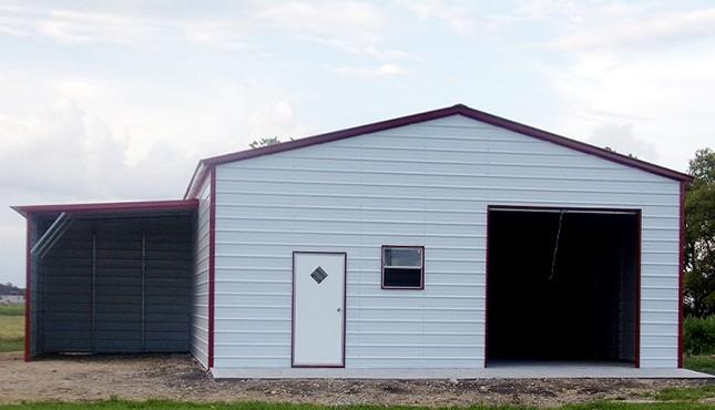30x30 Lean-to Garage