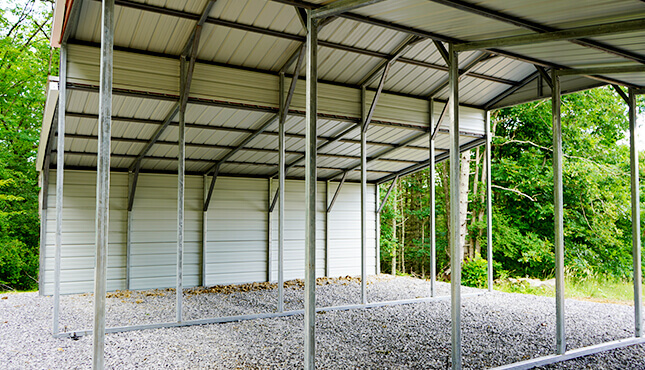 36x25 Drop Down Steel Barn