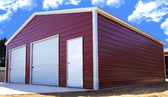 30x31 Vertical Roof Garage