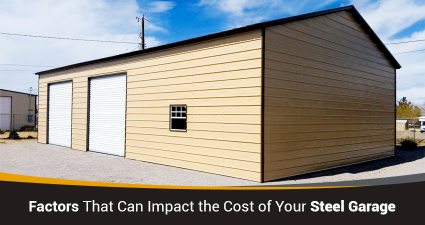 Factors That Can and Will Impact the Total Cost of Your Steel Garage